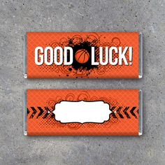 Wish your favorite basketball player GOOD LUCK on their next game! Simply wrap up your favorite chocolate bar in this basketball wrapper and