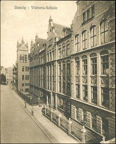 Wydział Biologii i Biotechnologii UG (Victoriaschule), Gdańsk - 1912 rok, stare zdjęcia