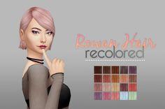 Whoohoosimblr: Rowan hair V2 - Sims 4 Hairs - http://sims4hairs.com/whoohoosimblr-rowan-hair-v2/