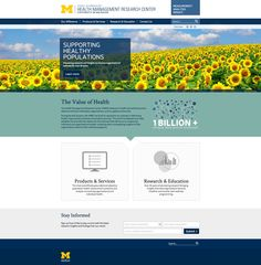 The University of Michigan's Health Management Research Center (HMRC) is dedicated to health and wellness research for individuals, organizations, and the global community.  Commercial Progression helped the HMRC reach out to their global community through a responsive redesign of their Drupal website.