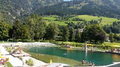 the new swimming lake at the Alpentherme, it's really fantastic.