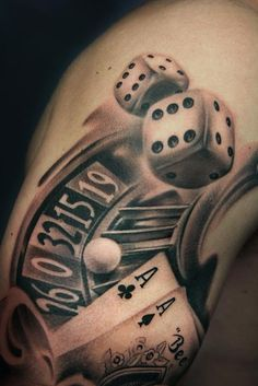 Realistic Dice Tattoo by Fabien Belveze