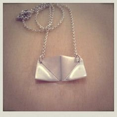 Sterling Silver 'Origami' necklace: By Gilly Rendle