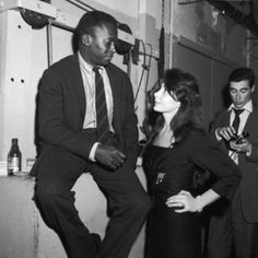 "Miles Davis and Juliette Greco  ""Sartre asked Miles why we weren't married. He said he loved me too much to make me unhappy"". Juliette Greco"