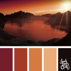 I love the warm atmosphere in this beautiful red color combination! | Click for more color palettes inspired by beautiful landscapes and other color inspiration at https://sarahrenaeclark.com | #colorscheme #colorpalette #color