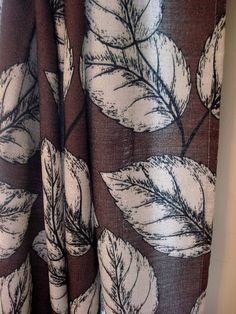 One pair of Chocolate Brown curtains with Leaf Pattern x by CurtainsAnonymous on Etsy Leaf Curtains, Brown Curtains, Diy Curtains, Vintage Curtains, Shabby Chic Curtains, Chocolate Color, Chocolate Brown, White Leaf, Anonymous