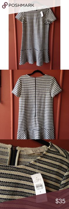 Loft stripped dress NWT striped dress very cute and flexible! ❌NO TRADES LOFT Dresses