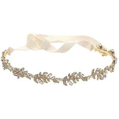 Marchesa Gemstone Leaf Headband (7,050 PHP) ❤ liked on Polyvore featuring accessories, hair accessories, jewelry, headwear, joias, necklaces, gold, headband hair accessories, head wrap headband and leaf headband