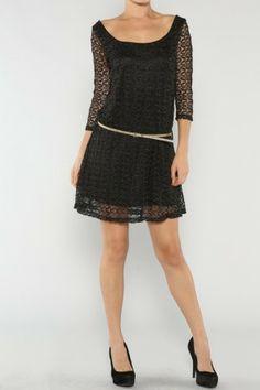 Metallic Laced Dress If you love dresses salediem has the look for Fall #salediem #fall#fashion. Shipping is FREE!