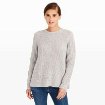 Florem Sweater - Adding an alluring twist to an otherwise classic silhouette, the Florem features a crewneck style and deep side splits that allow for seasonal layering.