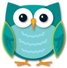 colorful owls cut outs aneley bday8 pinterest teacher supplies rh pinterest com Owl in Tree Clip Art OWL Writing Clip Art