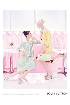 Spring 2012 Louis Vuitton. Model: Kati Nescher and Daria Strokous. Photographer: Steven Meisel.