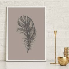 Inject a touch of nature to your home decor with our set of 3 feathered prints, adding the finishing touch to any wall space.Available in any colour upon reques Botanical Wall Art, Feather Print, Wall Art Prints, Tropical, Touch, Colour, Space, Nature, Cards