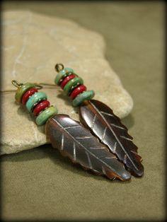 Beaded Earrings  Feather Earrings  Turquoise by StoneWearDesigns, $25.00