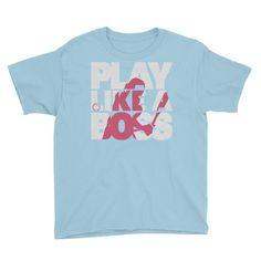 PLAY LIKE A BOSS ™ Girls Softball Youth Shirt