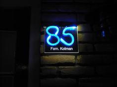 verlicht huisnummer naambord 2 kleuren | Naamborden | Pinterest