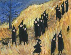 Original Painting, 11x14, 'Girls Night'