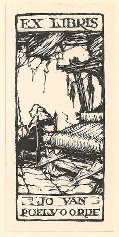 ex libris made by Anton Pieck