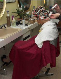 friday special: perm your Sissy Forced Haircut, Curly Perm, Permanent Waves, Hair And Beauty Salon, Beauty Salons, Waves Curls, Perm Rods, Tight Curls, Lotion