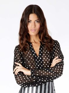 Nova Gold Dot Blouse – Sister Jane