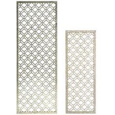 This is no garden-variety trellis. Sleek and sophisticated, our silvery rendition is crafted to accent an interior wall with panache. Flowers and climbing vines not necessary.
