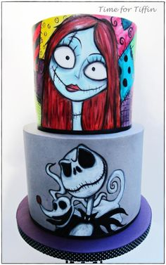 the nightmare before christmas cake by time for tiffin