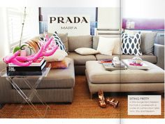 The big ottoman makes this sectional PERFECT! I want a couch just like this.