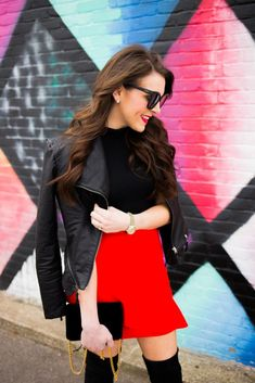 red mini skirt - topshop mini skirt - valentine's day outfit idea - valentine's day blogger - red skirt valentine's