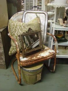 Rusty chair and other junk