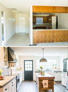 """Fixer Upper"" – The Bardominium (season 3 episode 6) kitchen before and after – Magnolia Market"