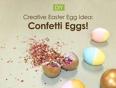 Creative Easter Egg Idea: DIY Confetti Eggs! -Beau-coup Blog