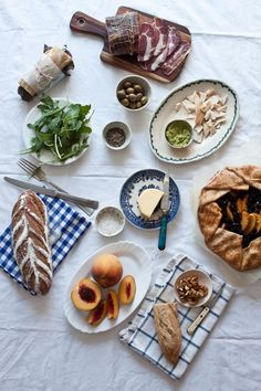 Peach and Blackberry Galette   Photography and Styling by Little Upside Down Cake