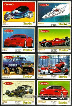 Merveilleux Turbo 261 330, Thin Frame. Trading CardsBubble GumPicture ...