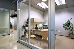 glass doors = private office space!