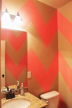 DIY Chevron Wall/Room Tutorial | White Plum Blog