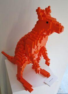 LEGO Sculpture Kangaroo