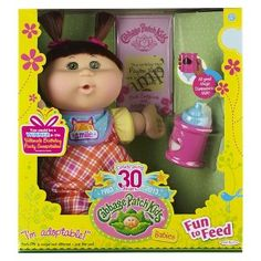 Cabbage Patch Kids Babies Caucasian Girl with Brunette Hair