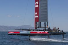 Foiling confirmed for America's Cup World Series >> Scuttlebutt Sailing News Old Trophies, Sail Racing, Catamaran, World Series, Golden Gate Bridge, Time Travel, Sailing, Competition, Old Things