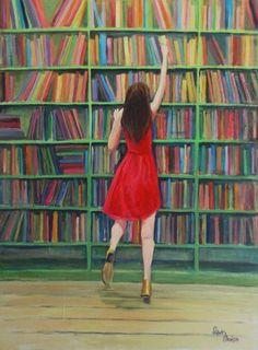 Alcanzando la lectura (ilustración de Oronska Katarzyna)