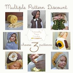 Any 3 Patterns Discount by NaturallyNoraCrochet on Etsy