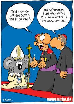 Also ich musste nicht an den Papst denken... beiger Mantel, fast blaue Krawatte...