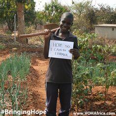 "#BringingHope ""Hope so I can be a farmer"" #VOHAfrica #farm #farming #cute #inspiring #africa #missions"