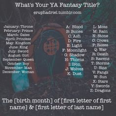 """Depending on which last name I use...""""The Kingdom of Ravens and Thorns"""" OR """"The Kingdom of Ravens and Bones"""". Either one would make a cool title."""