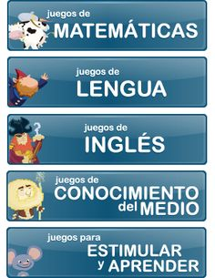 Juegos Online Educativos y didácticos para niños de primaria | MundoPrimaria English Class, Teaching English, Learn English, Bilingual Classroom, Spanish Classroom, Vocabulary Activities, Kids Learning Activities, Primary Education, Kids Education