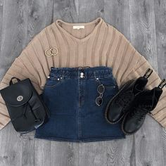 Shop Priceless - The latest in women & teen fashion at prices you can afford. Teenage Outfits, Cute Teen Outfits, Outfits For Teens, Trendy Outfits, Cool Outfits, Fashion Outfits, Grunge Outfits, Jean Skirt Outfits, Denim Skirt