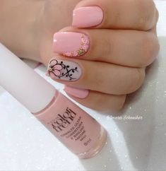 Luvvv the ring finger art! Glam Nails, Hot Nails, Beauty Nails, Diy Rhinestone Nails, Hello Nails, Pink Acrylic Nails, Luxury Nails, Stylish Nails, Square Nails