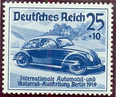 Deutsches Reich 25+10 pf, 16th Febuary 1939. International Automobile and Motorcycle Exhibition