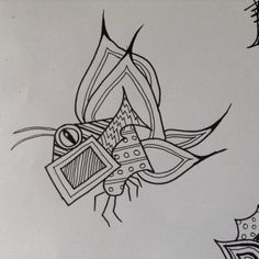 A zentangle doodle butterfly/bug....just love doing these doodles.