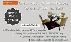 Checkout of introductory range of Dining set