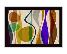 Tangletown Fine Art Positive Energy 2 by Barry Osbourn Framed Graphic Art Mid Century Art, Wall Art For Sale, Framed Artwork, Framed Wall, Framed Canvas, Canvas Prints, Art Decor, Decor Ideas, Gift Ideas